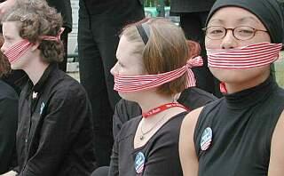 gagged political girls
