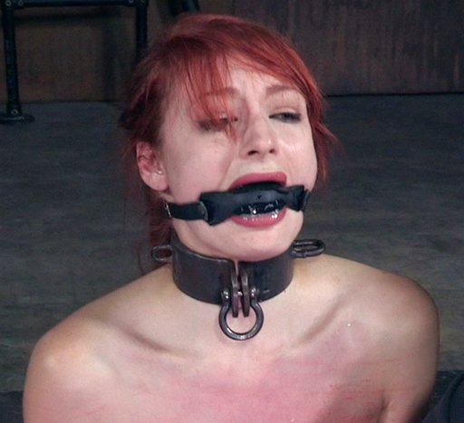 violet monroe gagged and crying as she gets put through her bondage paces
