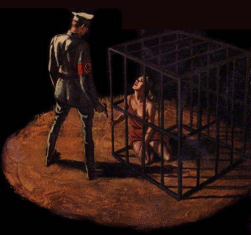 nazi prisoner pulp novel cover art