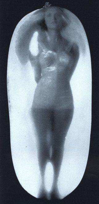woman captured inside a latex balloon