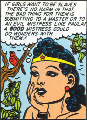 wonder woman endorsing female slavery