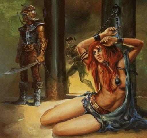 captive under guard