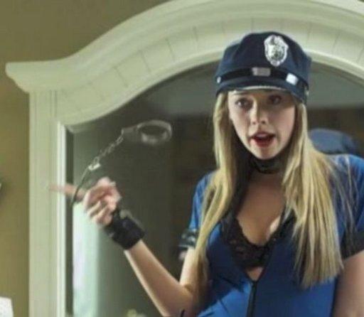 handcuff twirling sexy blonde cop