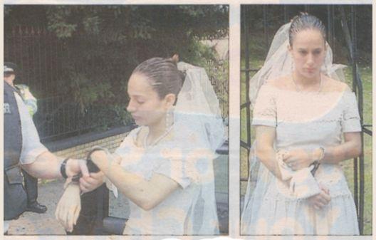bride in handcuffs
