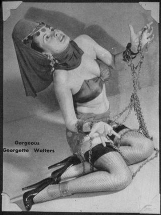 harem girl in pinup bondage