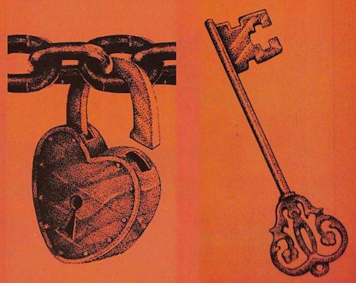 bondage clip art padlock and key