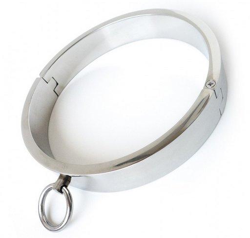 stainless steel heavy slave/dungeon collar