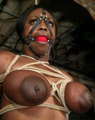 jada fire with her titties in bondage