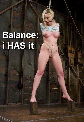 samantha sin has good balance