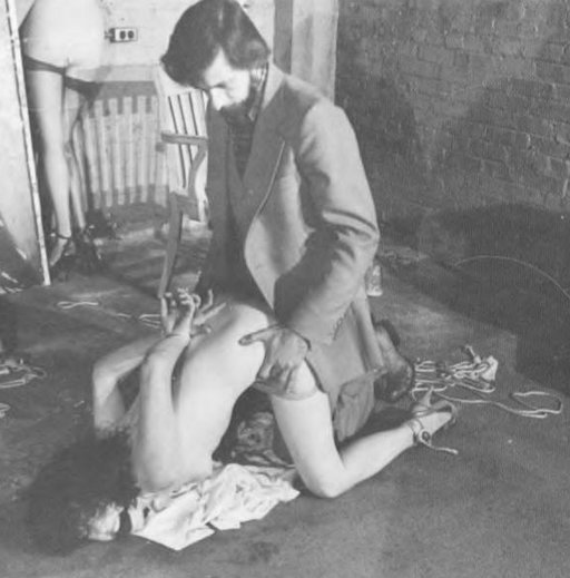 John Blakemore fucking a bondage model from behind