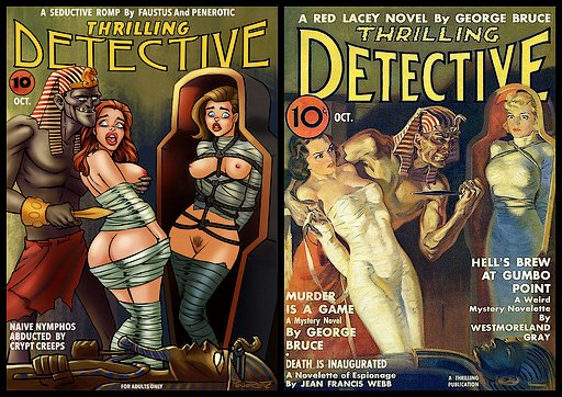 bondage mummies pulp cover improved by Penerotic with more nudity