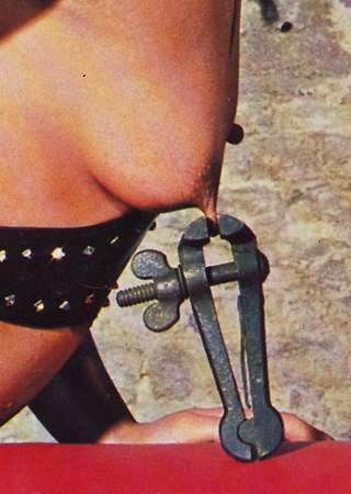 heavy iron nipple clamp