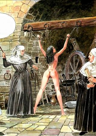 punishment nuns with chains