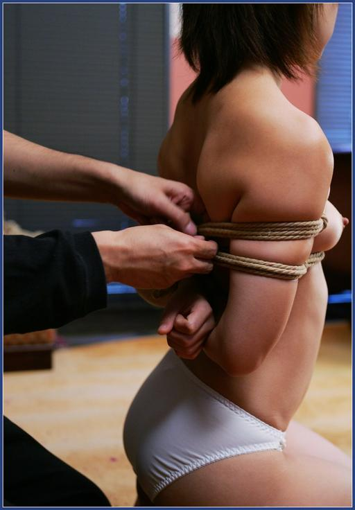 japanese girl in panties and rope bondage