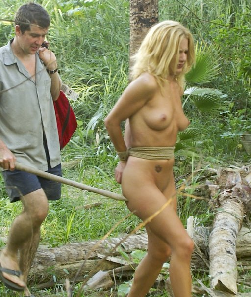 Jenni Lee kidnapped and forced naked into the jungle