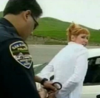Kari from Mythbusters handcuffed by police