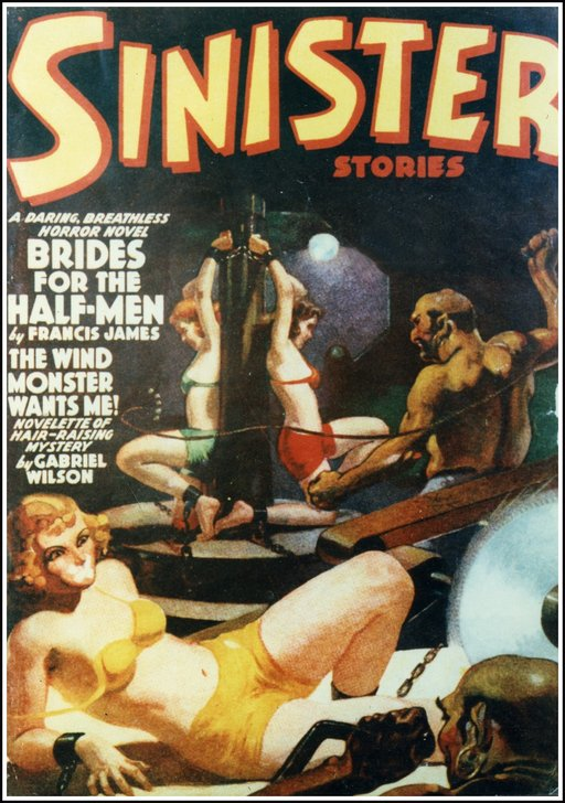 sinister stories cover with manacled girls