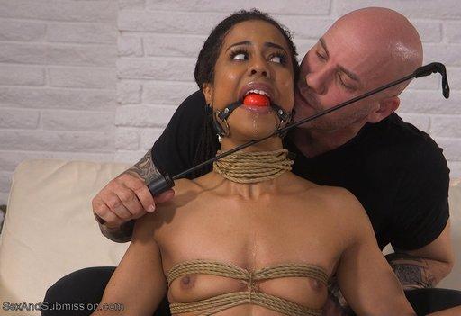 kira noir gagged and enjoying a moment of bondage seduction
