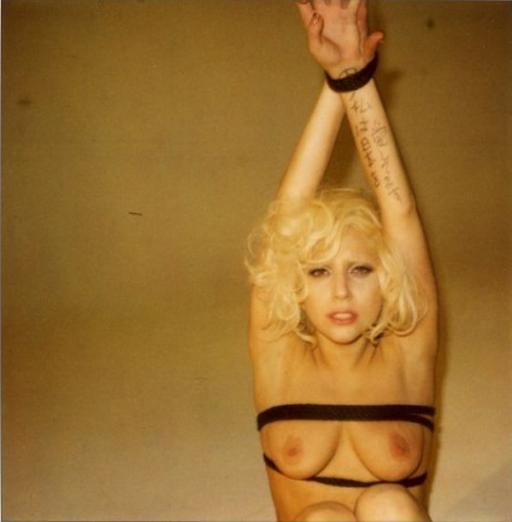 lady gaga naked bondage