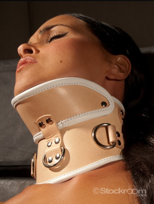 medical bondage posture collar with chin rest