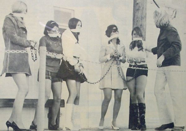 slavegirls in mod clothing from the 1960s or 1970s