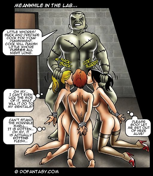 Sex slave bondage comic