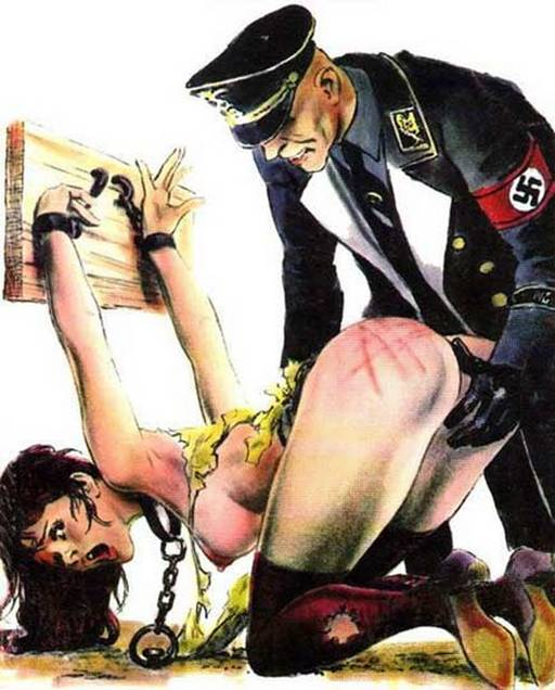 chained and whipped and spanked by nazis