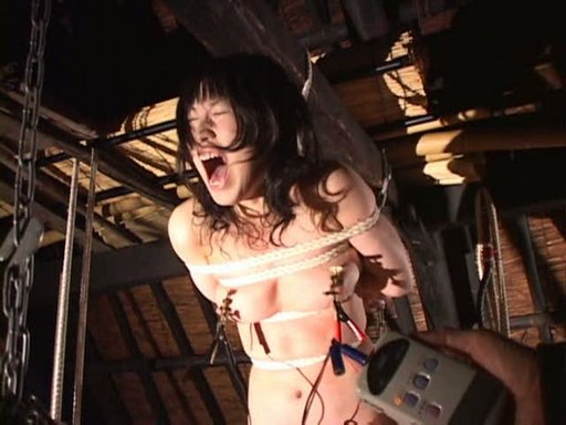 nipple shocking pain from a Japanese pain movie