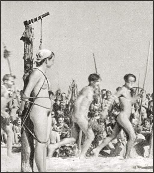 bondage sacrifice among the tribal nudists