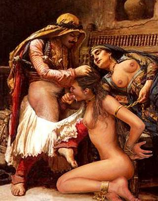 fantasy harem chained blowjob