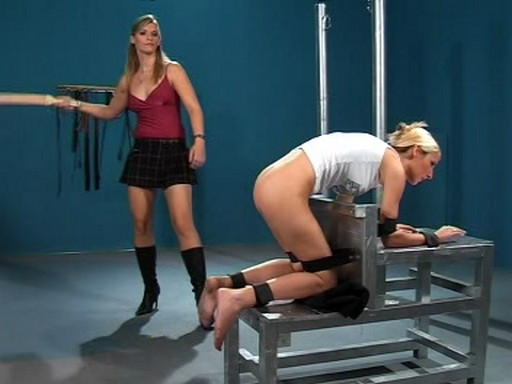 strapped down and strap spanked