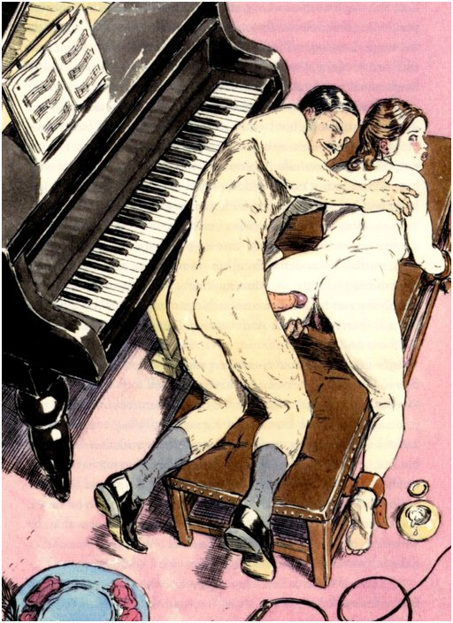 anal rape on the piano bench