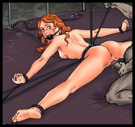 feisty red head bondage fucked