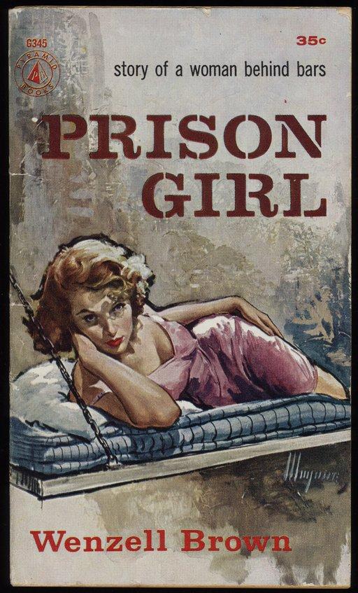 prison girl pulp novel cover