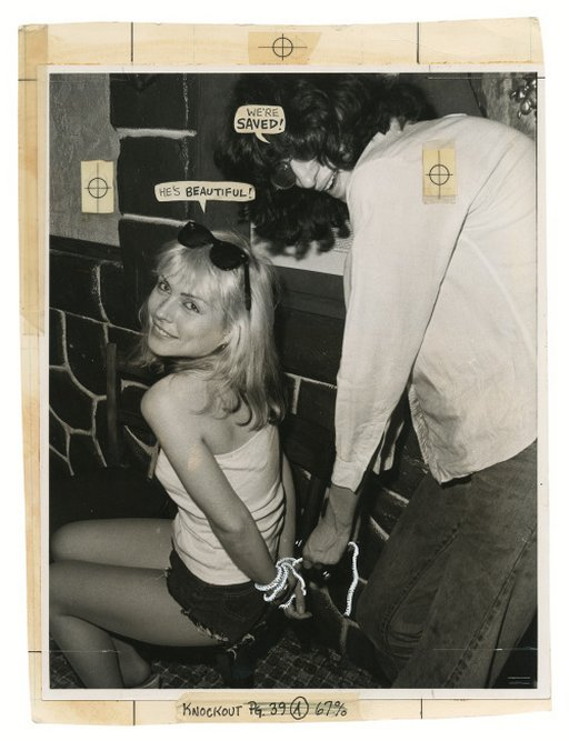 Debbie Harry in bondage and Joey Ramone ties her up