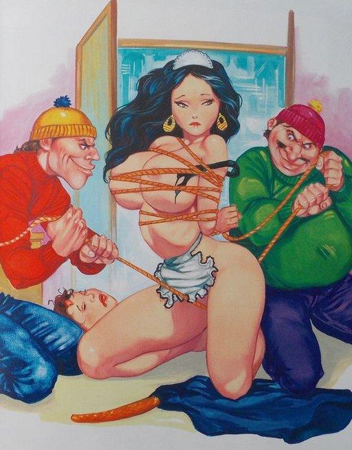 bondage pussy-flossing