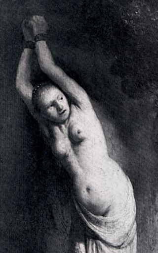 andromeda in chains by rembrandt