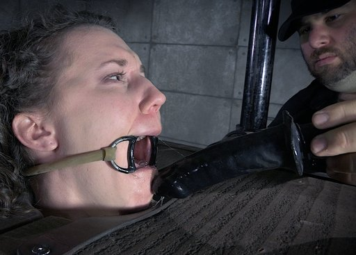 bonnie day drooling after some forced dildo deep throating