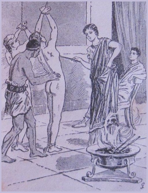 roman bondage breast torment artwork