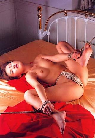bondage panties made of rough rope