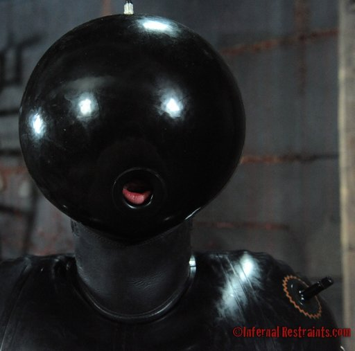 blow up rubber hood with fuckhole mouth