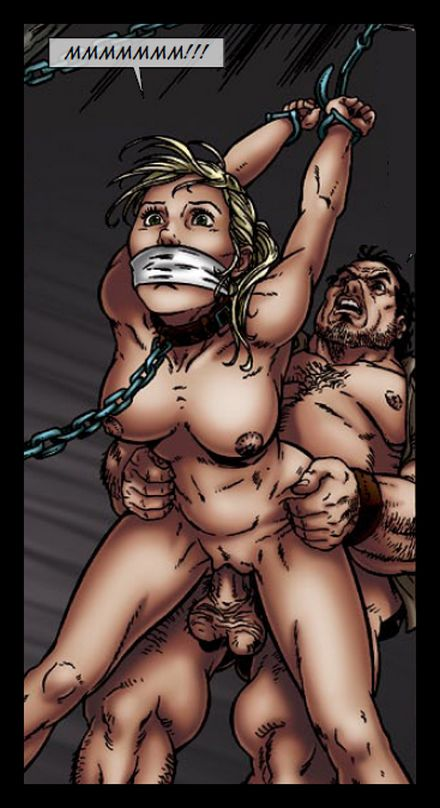 chained and gagged and fucked from behind