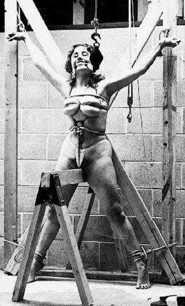vintage strict bondage with pussy pain