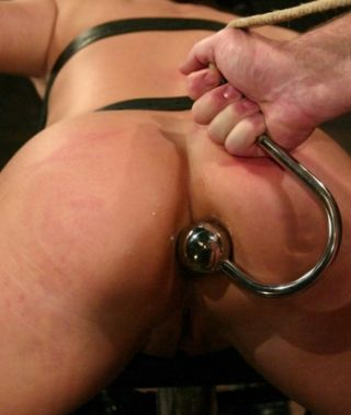 butt hook with big stainless steel pleasure ball