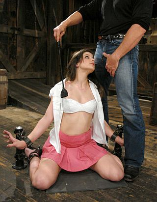 kneeling posts for handy bondage blowjobs