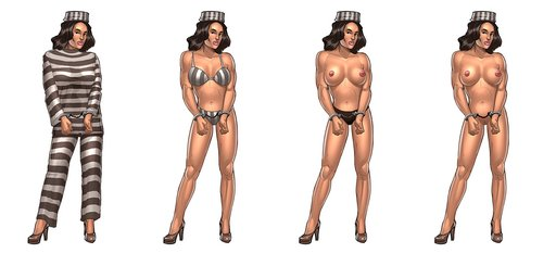 naked convict from Sex Gangsters game