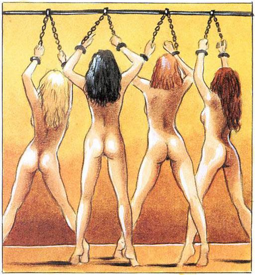 four chained women