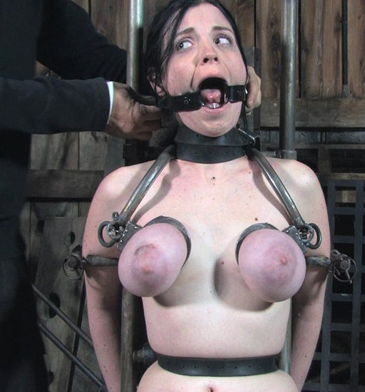 breast shackles and a spider gag