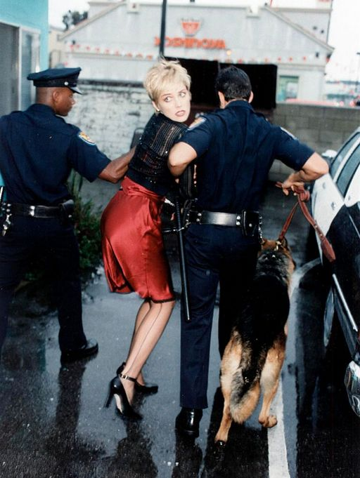 sharon stone is under arrest