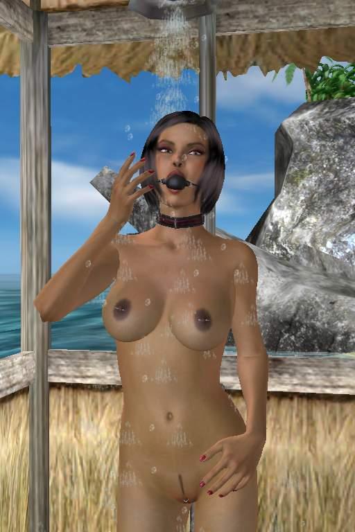 Kink 3d beach slave girl showering